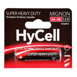 Pile HyCell Carbone-Zinc Mignon AA / R6 / 1.5V