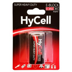 Pile HyCell Carbone-Zinc E-BLOCK E / 6F22 / 9V
