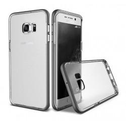 Etui Flip Cover Hama pour Samsung Galaxy S7 / Noir & Transparent