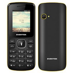 Téléphone Portable Evertek Light + / Double SIM / Noir & Bleu