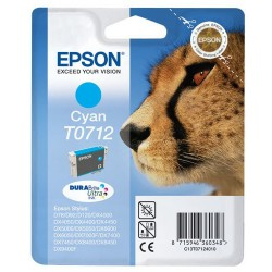 Cartouche Epson T0712 Série Guepard / Cyan