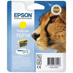 Cartouche Epson T0714 Série Guepard / Jaune