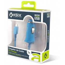 Chargeur Allume Cigare Ksix Micro USB 1A / Bleu