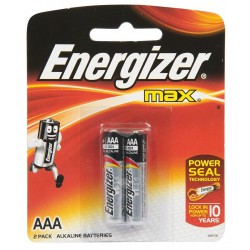 2x Piles Energizer Max +Power Seal AAA