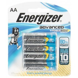 4x Piles Energizer Advanced + Powerboost AA