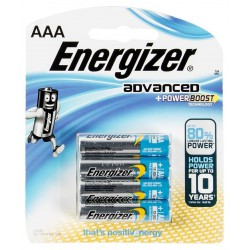 4x Piles Energizer Advanced + Powerboost AAA