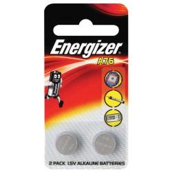 2x Piles Energizer A76 Alkaline 1.5V