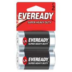 2x Piles Eveready Super Heavy Duty C