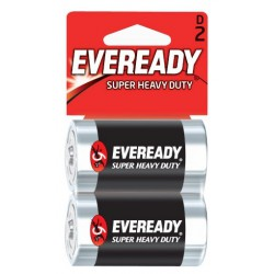 2x Piles Eveready Super Heavy Duty D