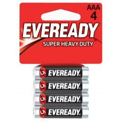4x Piles Eveready Super Heavy Duty AAA