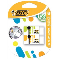 2x Gommes BIC Mini Plast-office
