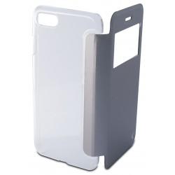 Etui Cover Flip KSix Cristal pour iPhone 7 / Silver