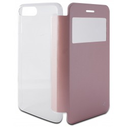 Etui Cover Flip KSix Cristal pour iPhone 7 Plus / Rose Gold
