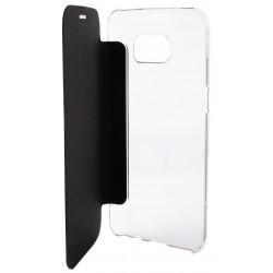 Etui Cover Flip KSix Cristal pour Samsung Galaxy S7 Edge / Noir