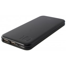 Power Bank Ksix Slim PowerLive+10 / 10000 mAh / Noir