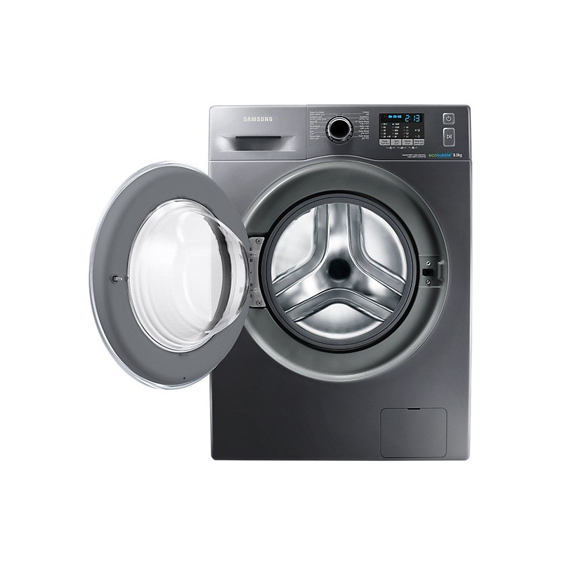 machine laver samsung eco bubble 8kg inox. Black Bedroom Furniture Sets. Home Design Ideas
