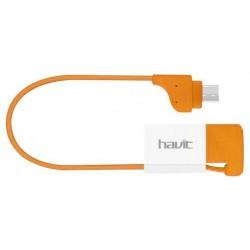 Câble plat Havit USB vers Micro-USB pour Smartphone / Bleu