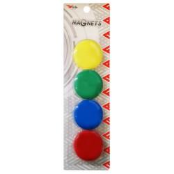 4x Boutons de fixation magnétiques 40 mm