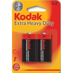 2x Piles Kodak Extra Heavy Duty C