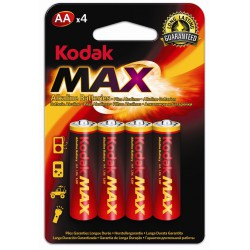 4x Piles Kodak Max Alkaline AA
