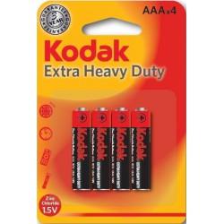 4x Piles Kodak Extra Heavy Duty AAA