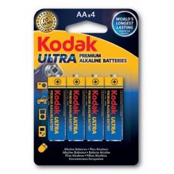 4x Piles Kodak Ultra Premium Alkaline AA