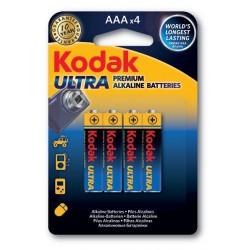 4x Piles Kodak Ultra Premium Alkaline AAA