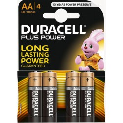 4x Piles Duracell CopperTop AA