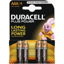 4x Piles Duracell CopperTop AAA
