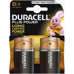 2x Piles Duracell CopperTop D