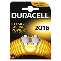 2x Piles Bouton Duracell CR2016