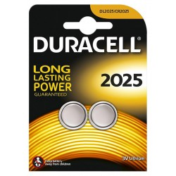 2x Piles Bouton Duracell CR2025