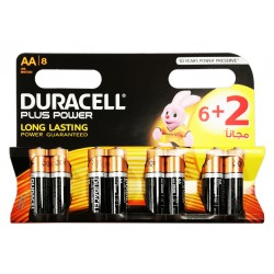 8x Piles Duracell CopperTop Plus Power AA