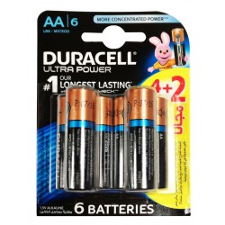 6x Piles Duracell Ultra Power AA