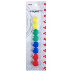 8x Boutons de fixation magnétiques 20 mm