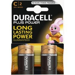2x Piles Duracell CopperTop C
