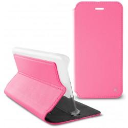 Etui Flip cover KSix Slim Folio pour Huawei Y5II/Y6II Rose