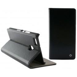 Etui Flip cover KSix Permanent Folio pour Huawei P9 Lite Noir