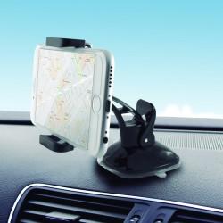 Support voiture rotatif Ksix pour Smartphone / Noir