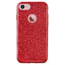 Etui en Silicone Puro Shine pour iPhone 7 / Rouge
