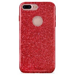 Etui en Silicone Puro Shine pour iPhone 7 Plus / Rouge