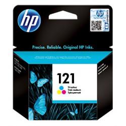 Cartouche d'encre authentique trois couleurs HP 121