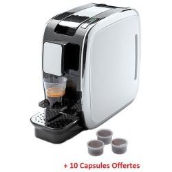 Machine à café à capsules Conti / Blanc + 10 capsules