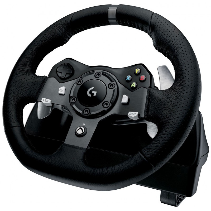volant de course logitech g920 driving force pour pc xbox one. Black Bedroom Furniture Sets. Home Design Ideas