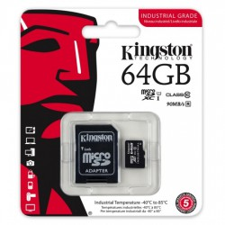 Carte mémoire Kingston microSD UHS-I U1 Class 10 64 Go avec adaptateur SD