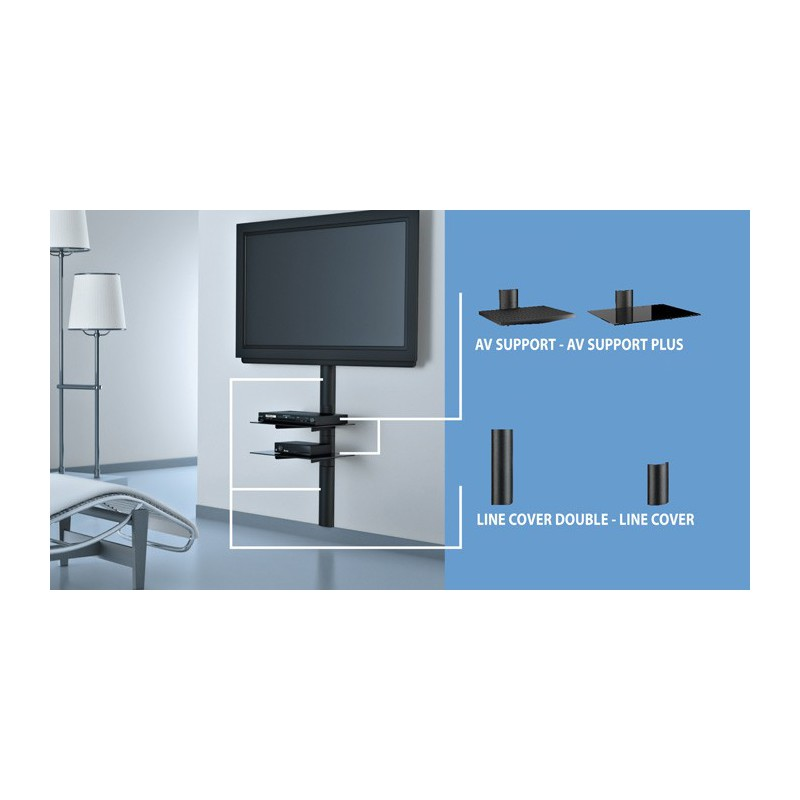 Meliconi support tv great meuble tv meliconi support pied - Tv avec support mural ...