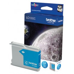 Cartouche Jet d'encre Originale Brother LC1000C / Cyan
