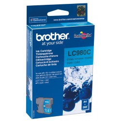 Cartouche Jet d'encre Originale Brother LC980C / Cyan