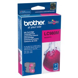 Cartouche Jet d'encre Originale Brother LC980M / Magenta