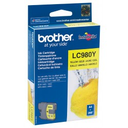 Cartouche Jet d'encre Originale Brother LC980Y / Jaune
